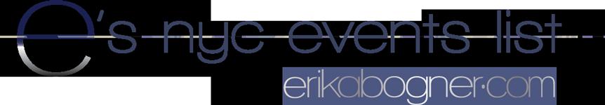 erika's event list